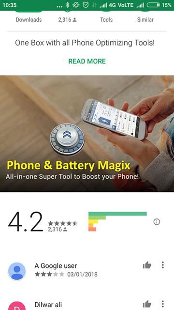 Battery Saver & Phone Booster - Reviews