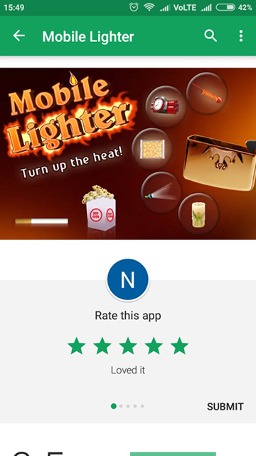 Mobile Lighter - Rate This App