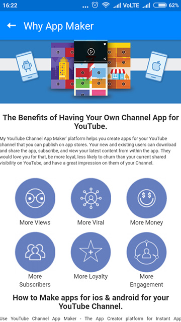My YouTube Channel App Maker: Create a Channel App | Migital com