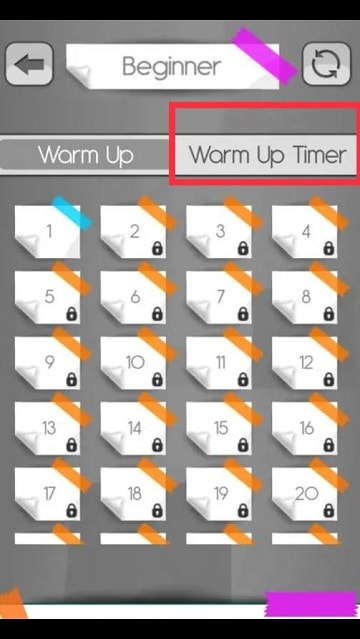 One Touch - Warm up Timer